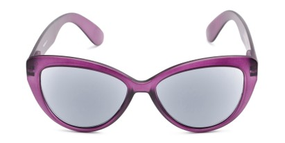 Front of The Greer Reading Sunglasses in Matte Purple
