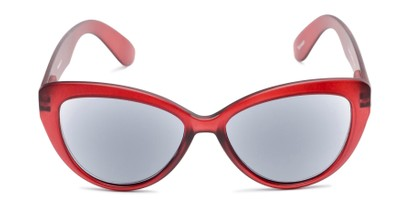 Front of The Greer Reading Sunglasses in Dark Matte Red