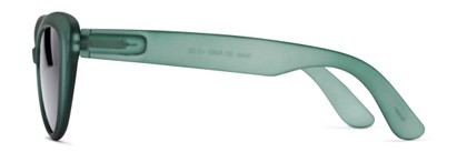 Side of The Greer Reading Sunglasses in Dark Matte Green