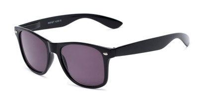 Angle of The Guthrie Reading Sunglasses in Black with Smoke, Women's and Men's Retro Square Reading Glasses