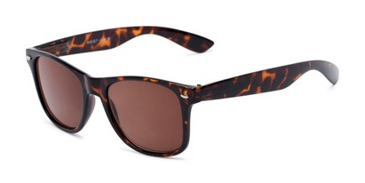 Angle of The Guthrie Reading Sunglasses in Tortoise with Amber, Women's and Men's Retro Square Reading Glasses