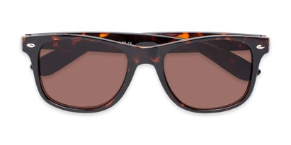 Folded of The Guthrie Reading Sunglasses in Tortoise with Amber