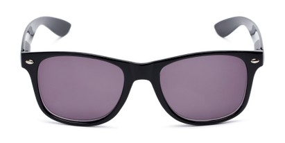 Front of The Guthrie Reading Sunglasses in Black with Smoke