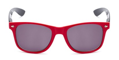 Front of The Guthrie Reading Sunglasses in Red/Black with Smoke