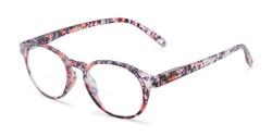 Angle of The Gwendolyn Bifocal in Matte Floral, Women's Round Reading Glasses