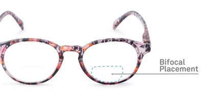 Detail of The Gwendolyn Bifocal in Matte Floral