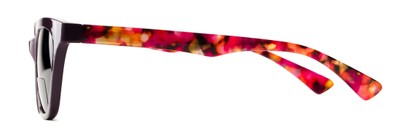 Side of The Hale Bifocal Reading Sunglasses in Purple/Pink Tortoise with Smoke