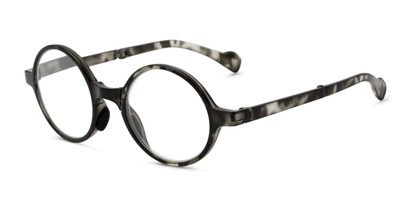 Angle of The Hance Folding Reader in Black Tortoise, Women's and Men's Round Reading Glasses