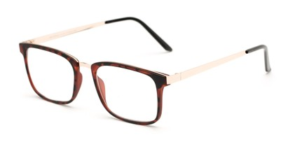 Angle of The Hank in Matte Tortoise, Women's and Men's Rectangle Reading Glasses