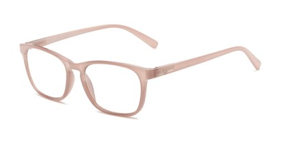 Angle of The Hannah - Foster Grant for Readers.com in Rose Pink, Women's Square Reading Glasses