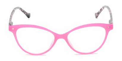 Front of The Harlow in Pink/Grey Tortoise