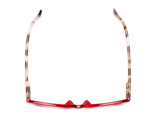 Overhead of The Harlow in Red/Tortoise