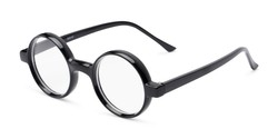 Angle of The Harry in Black, Women's and Men's Round Reading Glasses