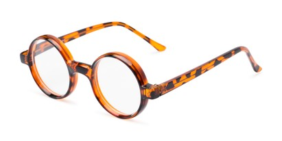Angle of The Harry in Tortoise, Women's and Men's Round Reading Glasses