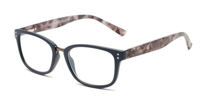 Angle of The Harvey - Foster Grant for Readers.com in Navy Blue/Grey Tortoise, Women's and Men's