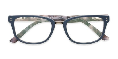 Folded of The Harvey - Foster Grant for Readers.com in Navy Blue/Grey Tortoise