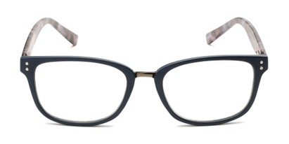 Front of The Harvey - Foster Grant for Readers.com in Navy Blue/Grey Tortoise