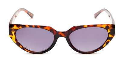 Front of The Hattie Reading Sunglasses in Brown Tortoise with Smoke