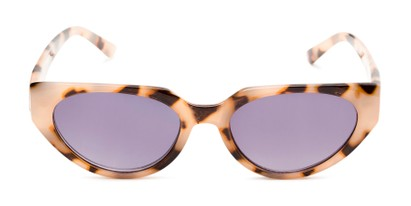 Front of The Hattie Reading Sunglasses in Tan Tortoise with Smoke