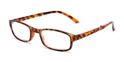 Angle of The Hawk Folding Reader in Tortoise, Women's and Men's Rectangle Reading Glasses