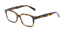 Angle of The Hawkins Multifocal Computer Reader in Tortoise, Women's and Men's Rectangle Reading Glasses