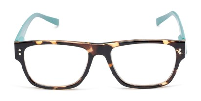 Plastic two tone retro square reading glasses