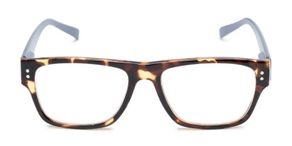Front of The Hazel in Tortoise/Light Purple