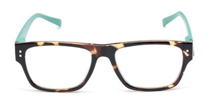 Front of The Hazel in Tortoise/Teal Green
