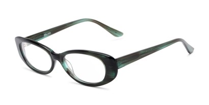 Angle of Hazel by felix + iris in Green, Women's Oval Reading Glasses