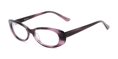 Angle of Hazel by felix + iris in Purple, Women's Oval Reading Glasses