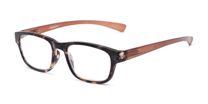 Angle of The Heart in Tortoise/Brown, Women's and Men's Retro Square Reading Glasses