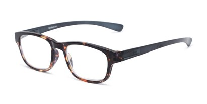 Angle of The Heart in Tortoise/Navy, Women's and Men's Retro Square Reading Glasses