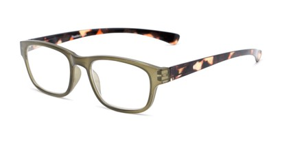 Angle of The Heart in Olive/Tortoise, Women's and Men's Retro Square Reading Glasses