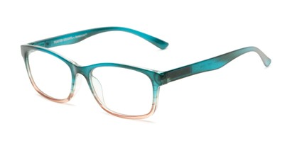 Angle of The Heather - Foster Grant for Readers.com in Teal Blue Fade, Women's Cat Eye Reading Glasses