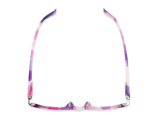 Overhead of The Helena Bifocal in Purple/Pink