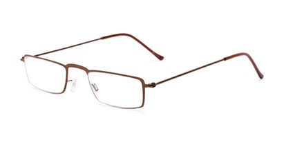 Angle of The Hemlock in Bronze, Women's and Men's Rectangle Reading Glasses