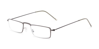 Angle of The Hemlock in Grey, Women's and Men's Rectangle Reading Glasses