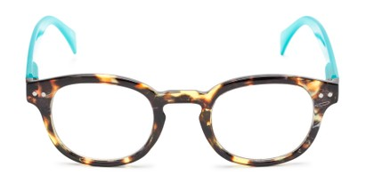 Front of The Hemp in Tortoise/Blue