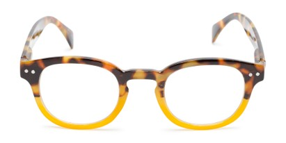 Front of The Hemp in Tortoise/Yellow Fade