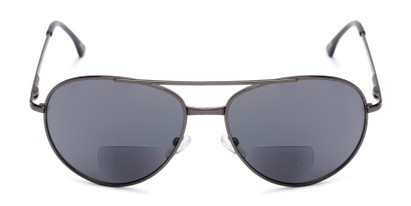 Front of The Hendrix Bifocal Reading Sunglasses in Grey with Smoke