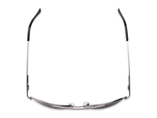 Overhead of The Hendrix Bifocal Reading Sunglasses in Silver with Smoke