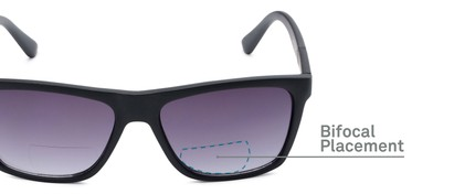 Detail of The Henry Bifocal Reading Sunglasses in Black with Smoke