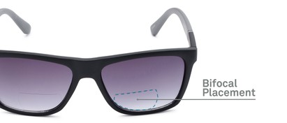 Detail of The Henry Bifocal Reading Sunglasses in Black/Grey with Smoke