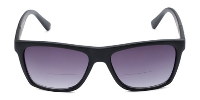 Front of The Henry Bifocal Reading Sunglasses in Black with Smoke