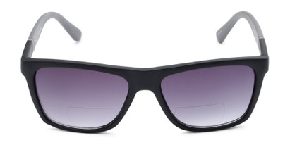 Front of The Henry Bifocal Reading Sunglasses in Black/Grey with Smoke