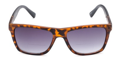 Front of The Henry Bifocal Reading Sunglasses in Tortoise/Black with Smoke