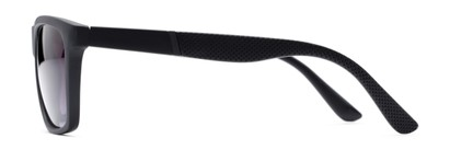 Side of The Henry Bifocal Reading Sunglasses in Black with Smoke