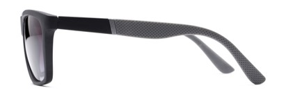 Side of The Henry Bifocal Reading Sunglasses in Black/Grey with Smoke
