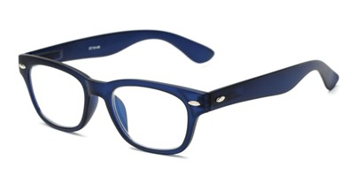Angle of The Himes in Blue, Women's and Men's Retro Square Reading Glasses