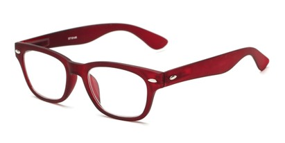 Angle of The Himes in Red, Women's and Men's Retro Square Reading Glasses